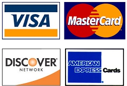 windshield replacement payment types Visa MasterCard Discover American Express